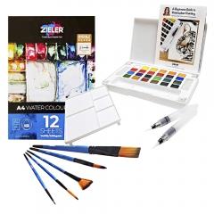Zieler watercolour starter set farby + akcesoria