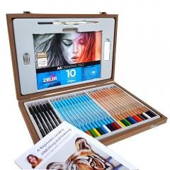 Zieler sketching & colouring box zestaw rysunkowy 36 elementów