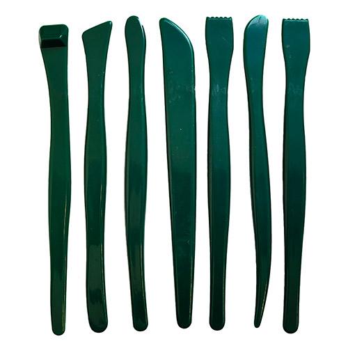 Zestaw plastikowych łopatek do gliny 7 sztuk