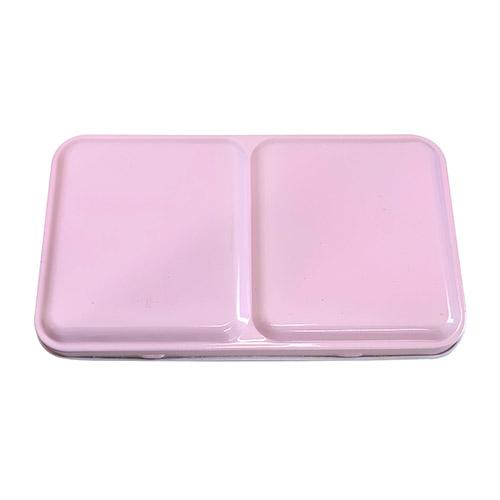 Kaseta metalowa pocket box na akwarele 12 półkostek różowa