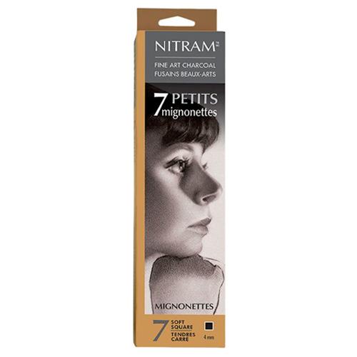 Nitram węgiel rysunkowy naturalny soft 4x4mm 7szt