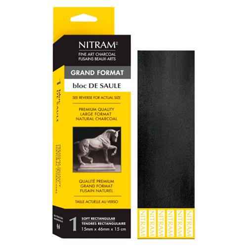Nitram węgiel artystyczny naturalny extra soft 15cmx46mmx15mm