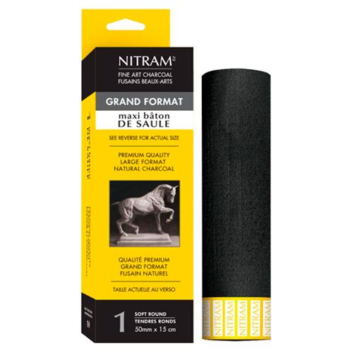 Nitram węgiel artystyczny naturalny extra soft 15cm x 50mm okrąg