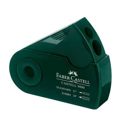 Faber-Castell temperówka podwójna 9000 zielona
