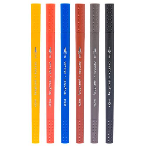 Bruynzeel fineliners brush pen amsterdam zestaw 6 sztuk
