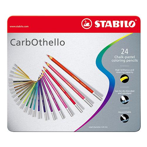 Stabilo carbothello zestaw 24 pasteli suchych w kredce metal opa