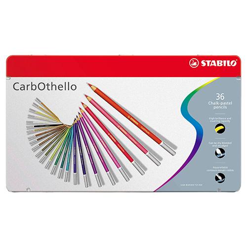 Stabilo carbothello zestaw 36 pasteli suchych w kredce metal opa