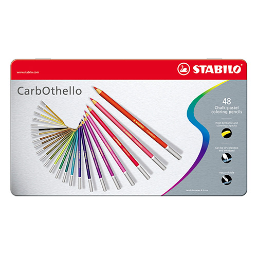 Stabilo carbothello zestaw 48 pasteli suchych w kredce metal opa