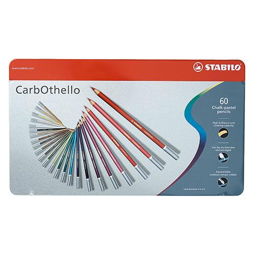 Stabilo carbothello zestaw 60 pasteli suchych w kredce metal opa