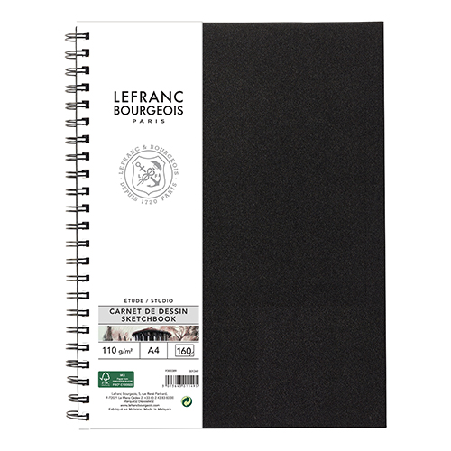 Szkicownik Lefranc&Bourgeois studio na spirali 110g 160ark