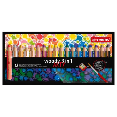 Stabilo woody 3w1 arty kredki 18 kolorów
