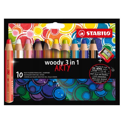 Stabilo woody 3w1 arty kredki 10 kolorów