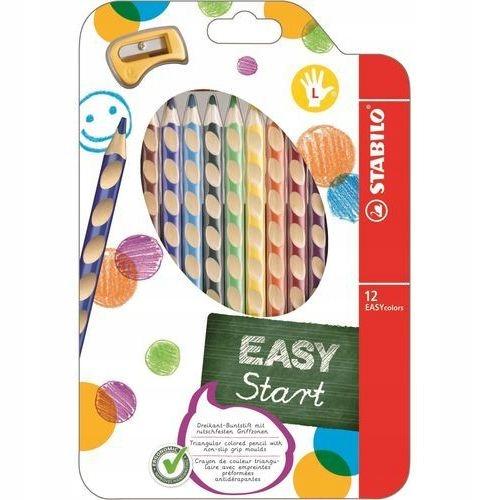 Stabilo easycolors zestaw 12 kredek dla leworęcznych