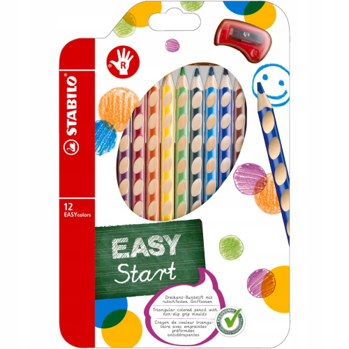 Stabilo easycolors zestaw 12 kredek dla praworęcznych
