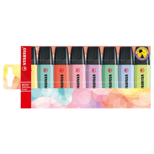 Stabilo boss original pastel zestaw zakreślaczy 8 kolorów