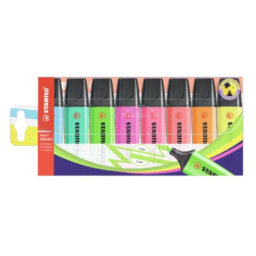 Stabilo boss original zestaw zakreślaczy 8 kolorów
