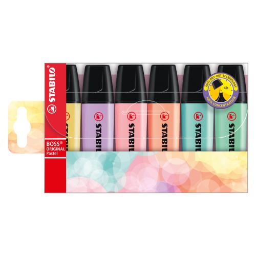 Stabilo boss original pastel zestaw zakreślaczy 6 kolorów