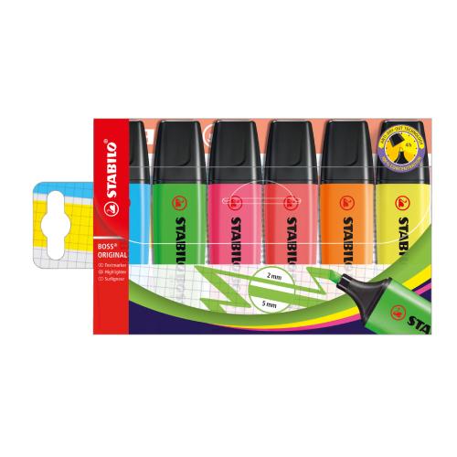 Stabilo boss original zestaw zakreślaczy 6 kolorów