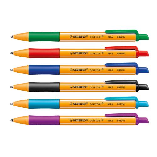Stabilo pointball długopis automatyczny 0.5mm