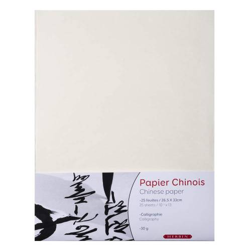 Herbin papier chiński 26.5x33cm 30g 25 arkuszy