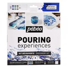 Pebeo discovery kit zestaw do pouringu 4x59ml + silicone 50ml