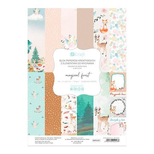DP Craft magical forest blok papierów kreatywnych A4 170g 20ark