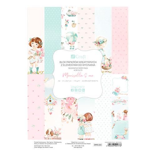 DP Craft marisella&me blok papierów kreatywnych A4 170g 20ark