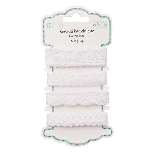 DP Craft koronki bawełniane bridal white 4 x 1m