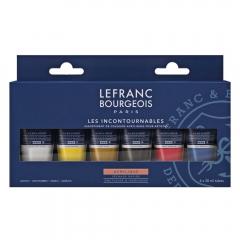 Lefranc&Bourgeois zestaw farb akrylowych fine 6x20ml