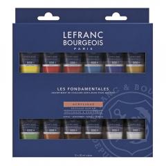 Lefranc&Bourgeois zestaw farb akrylowych fine 12x20ml
