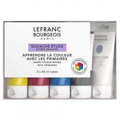 Lefranc&Bourgeoise zestaw gwasz studio 5x80 ml