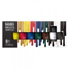 Liquitex zestaw farb akrylowych basic 8x75 ml