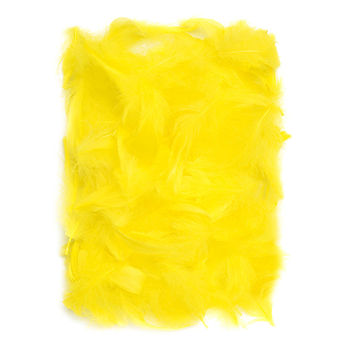 Piórka żółte 5-12cm 10g