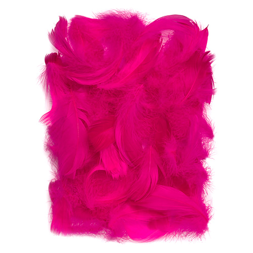 Piórka ciemno różowe 5-12cm 10g
