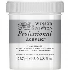 Winsor&Newton professional farba akrylowa 237 ml titanium white