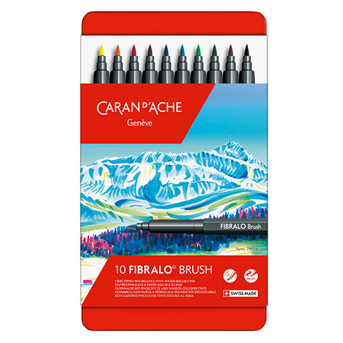 Caran dAche fibralo brush zestaw 10 flamastrów metal opak