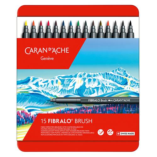 Caran dAche fibralo brush zestaw 15 flamastrów metal opak