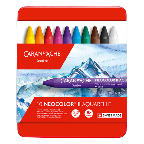 Caran dAche neocolor II pastele woskowe 10 sztuk metal opak