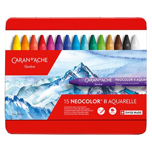 Caran dAche neocolor II pastele woskowe 15 sztuk metal opak