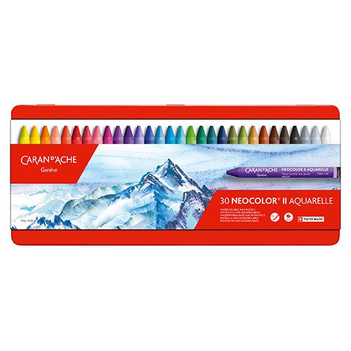 Caran dAche neocolor II pastele woskowe 30 sztuk metal opak
