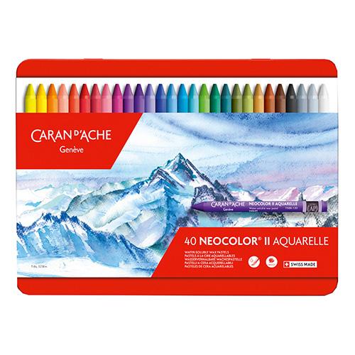 Caran dAche neocolor II pastele woskowe 40 sztuk metal opak