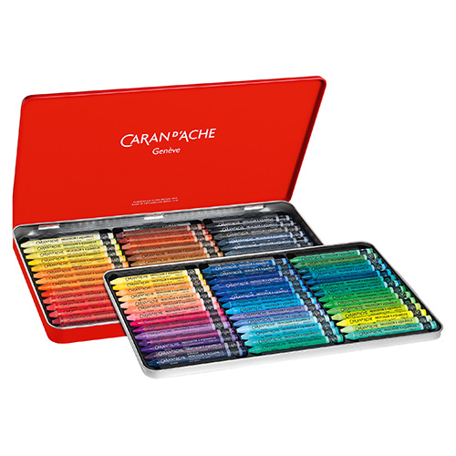 Caran dAche neocolor II pastele woskowe 84 sztuk metal opak