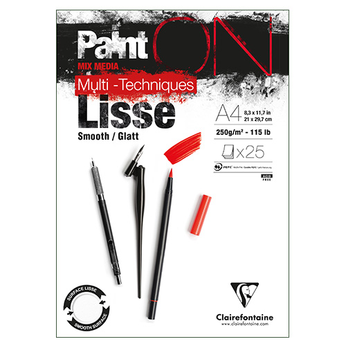 Blok Clairefontaine paint on lisse smooth 250g 25 arkuszy