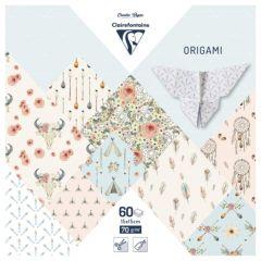 Clairefontaine papier origami boheme chic 15x15cm 70g 60ark