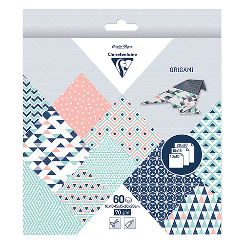 Clairefontaine origami prism 10x10,15x15,20x20 70g 60ark
