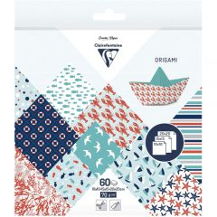 Clairefontaine origami sailor 10x10,15x15,20x20 70g 60ark