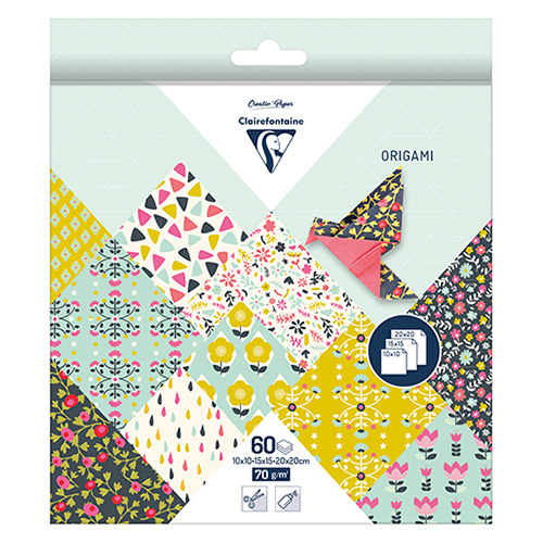 Clairefontaine origami flowers 10x10,15x15,20x20 70g 60ark