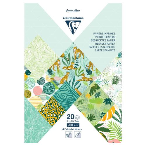 Clairefontaine papier dekoracyjny exotic freshness A4 20 arkuszy