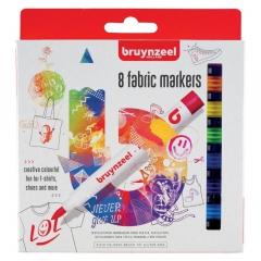 Bruynzeel zestaw 8 markerów do tkanin
