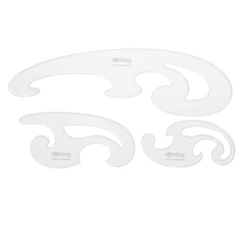 Rotring komplet krzywików burmester 3 elementowy